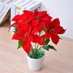 MARJON-FlowersSimulation-Plant-Christmas-Flower-7-Christmas-red-Simulated-Flower-Silk-Flower-Fake-Flower-Decoration-Green-Plant-a-Poinsettia-Potted-furnishings