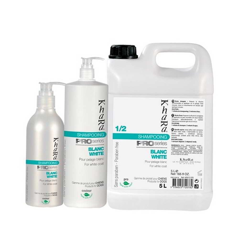 Khara - Shampoing PRO pour CHIEN BLANC - KHARA - 250 ml