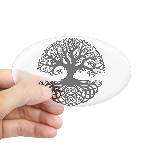 CafePress Tree Of Life Sticker (Oval) Oval Bumper Sticker, Euro Oval Car Decal