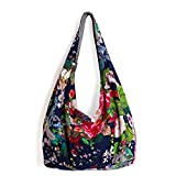 Ethnic Style Stylish Cotton Fabrics Shoulder Bag Multicolored Women Casual Everyday Bucket Handbag