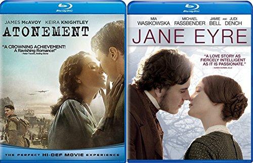 Jane Eyre & Atonement Blu Ray 2 Pack Love & Thriller Movie Set