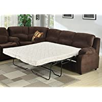 AC Pacific Tracey Collection Contemporary Transitional Tufted Queen Sofa Bed, Chocolate