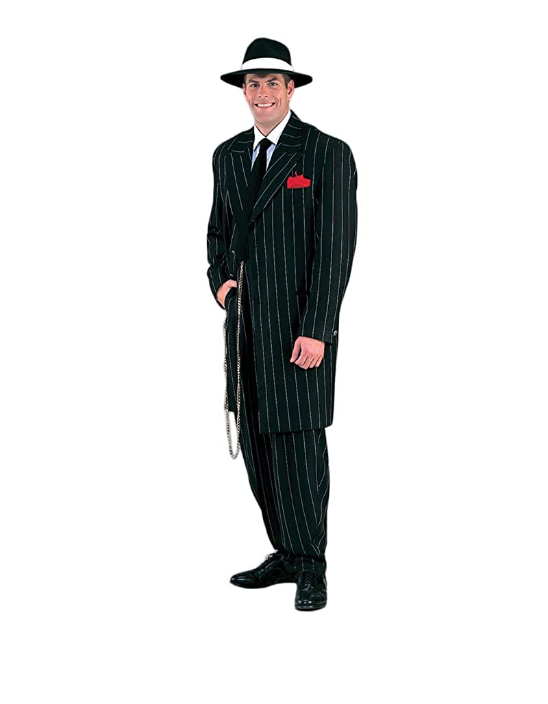 1940s Men's Suit History and Styling Tips Mens Deluxe Gangster Zoot Suit Theater Quality Costume $239.99 AT vintagedancer.com