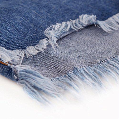 OcAuWerE Womens Casual Lace-up Tassel High Waist Denim Short Jeans by OcAuWerE (Image #5)