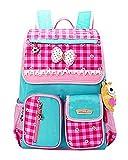 JiaYou Kid Child Girl Princess Style Waterproof School Bag Backpack(B)