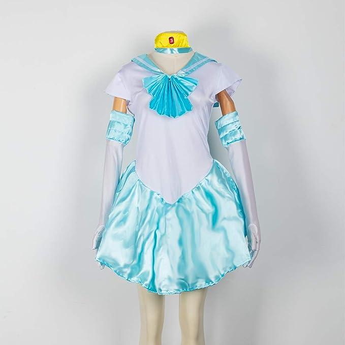 Baipin Disfraz De Sailor Moon Anime Cosplay, Azul Claro Vestido y ...