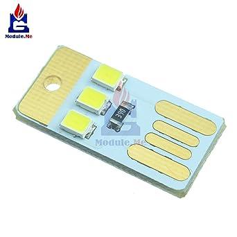 5pcs Mini Led Night Usb Power White Modellight Pocket Card Lamp Bulb Led Keychain Portable New Electronic Components & Supplies