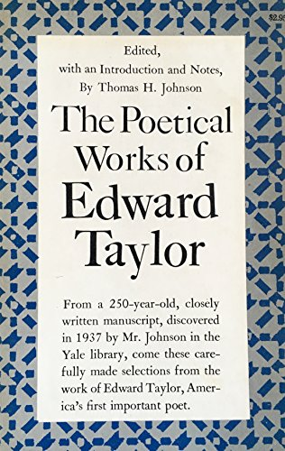 The Poetical Works of Edward Taylor (Princeton Legacy Library)