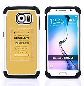 - text quote motivational mustard/ H??brido 3in1 Deluxe Impreso duro Soft Alto Impacto caja de la armadura Defender - SHIMIN CAO - For Samsung Galaxy S6 G9200