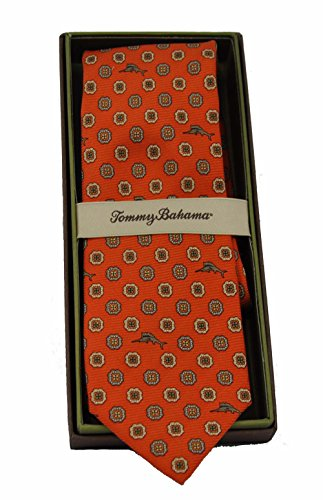 Tommy Bahama 100% Silk Twill Tie Mini Medallion Patterns (Orange Marlin Medallion)