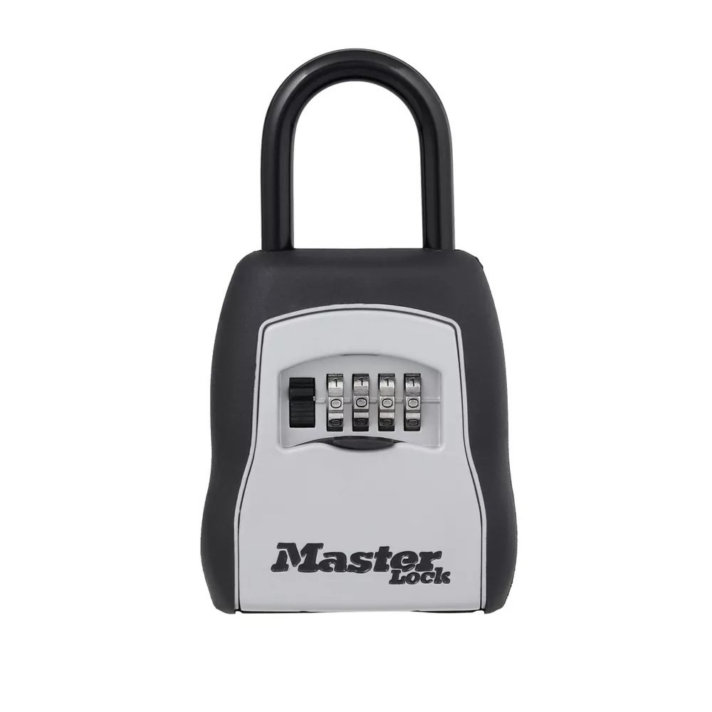 Master Lock 5400D Set Your Own Combination Portable Lock Box 5 Key Capacity Black