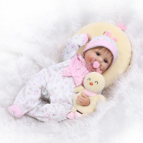 Lilith 17 Inch 43cm Real Life Like Reborn Doll Soft Silicone Baby Girl Realistic Looking Baby Dolls Kids Playmate Toy Birthday Present Xmas -