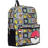 """Pokemon 17"""" Kids Backpack and Pikachu Flashing Watch - 2 Piece Set"""