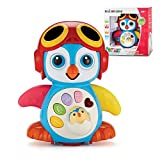 Singing Dancing Penguin Baby Toy - Sounds and Lights - Bump and Go Walking and Waving - Music, Story and Learning Modes – Colorful, Interactive, Educational – by ToyThrill