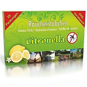 Luxflair 25 Confezioni di incenso Citronella Anti zanzare, Tempo di combustione Circa 150 Ore (Totale). XL Magazzino… 1 spesavip