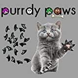 40-Pack Black Soft Nail Caps For Cat Claws Purrdy Paws Brand (Medium)