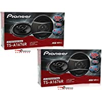 4 x BRAND NEW TS-A1676R PIONEER 6.5-INCH 6-1/2 CAR AUDIO 3-WAY COAXIAL SPEAKERS