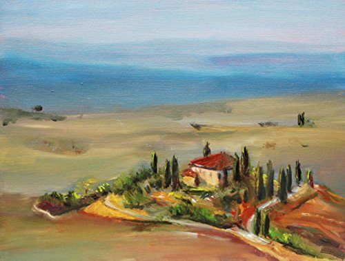 Bild Landschaft Toskana Malerei Kunst Original ölmalerei Gemälde