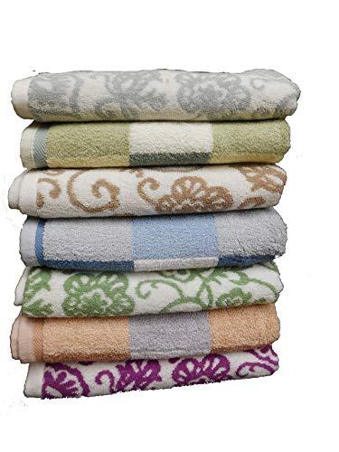6-Pack Bath Towels-Extra-Absorbent-100% Cotton-27 X 54