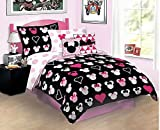 Disney Minnie Mouse Love Full Bed-in-Bag Bedding Set
