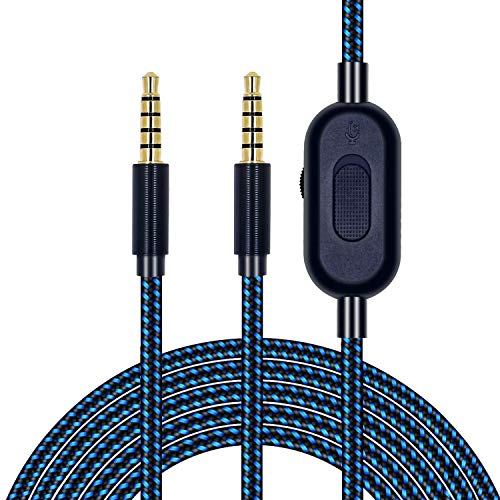 Replacement Cable for Astro A10/A40/A30/A50 Headset, Premium Nylon Cable with Volume Control and Inline Mute Function Compatible with Xbox One Play Station 4 PS4 Headphone Extension Cable 6.5 Feet