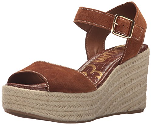 Sam Edelman Women's Dimitree Espadrille Wedge Sandal, Luggage, 10.5 M US (Suede Edelman Wedges)