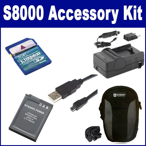 Nikon Coolpix S8000 Digital Camera Accessory Kit includes: USB8PIN USB Cable, SDENEL12 Battery, SDM-197 Charger, KSD2GB Memory Card, SDC-22 Case