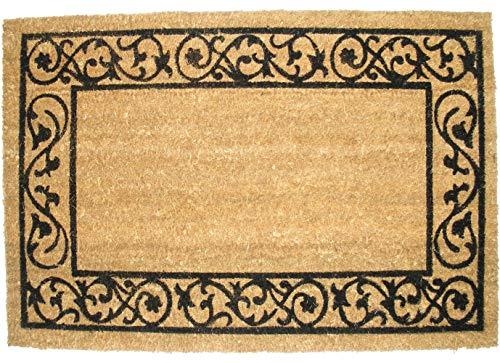 Natural Coir Coco Fiber Non-Slip Outdoor/Indoor Doormat, 19.5x29.5