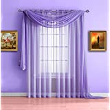 Warm Home Designs Pair of Standard Length Purple Lilac Sheer Window Curtains. Each Voile Drape Is 56 X 84 Inches in Size. Great for Kitchen, Living, Kids Room. 2 Fabric Panels. Color: Lilac 84