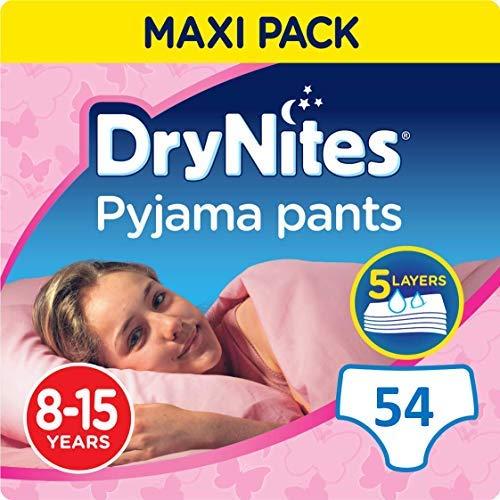 9 Huggies Dry Nites Pyjama Pants for Girls 8-15yrs FREE UK DELIVERY