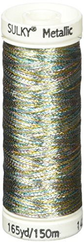 (Sulky Metallic Thread for Sewing, Light Blue, Gold and Lavender)