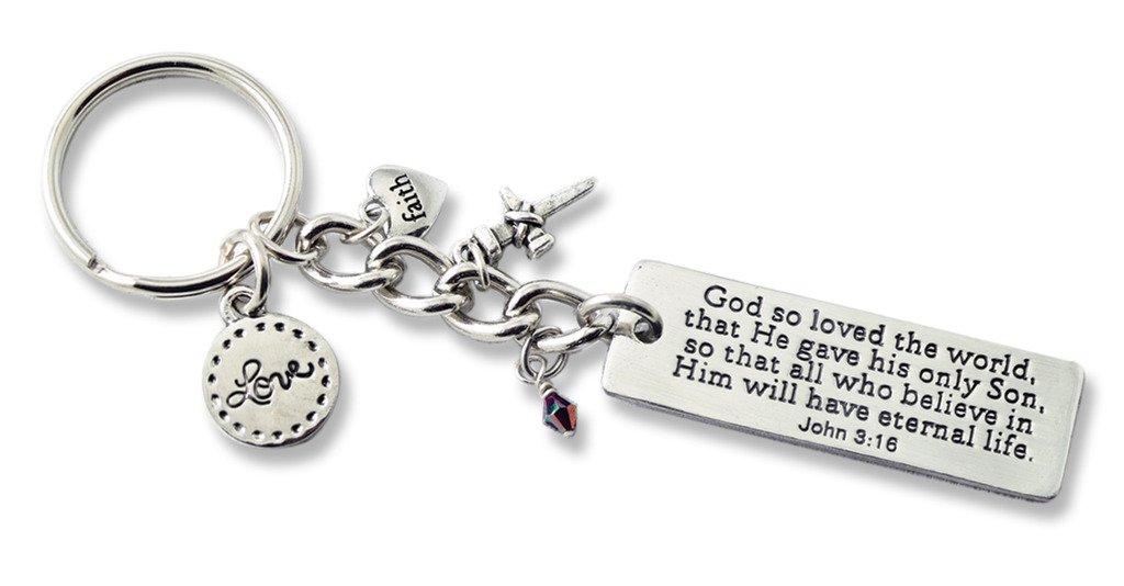 Cathedral Art KR313 Serenity Key Ring Bling 4-1//2-Inch