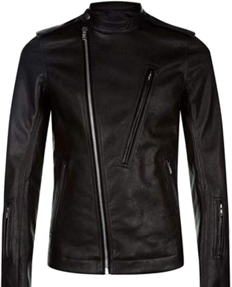 Stormwise Mens Fashion Biker Real Leather Jacket