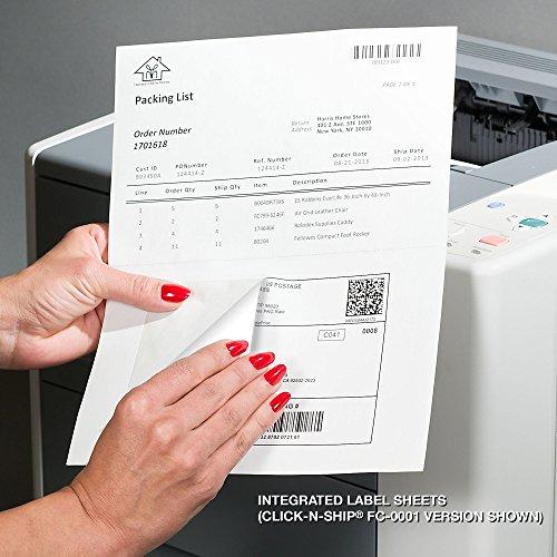 (Custom Mailing Click-N-Ship Labels FC-0001 Integrated Label Sheets - 1 up Labels, 8 1/2
