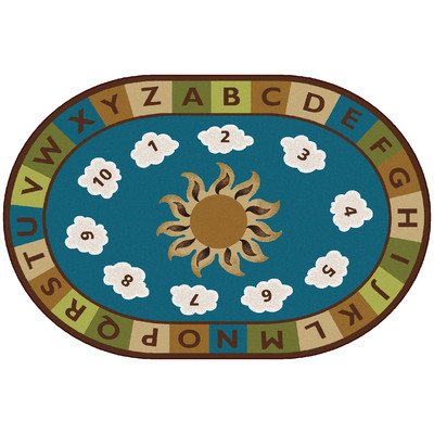 Carpets for Kids Sunny Day Learn/Play Oval Rug - 108 Length