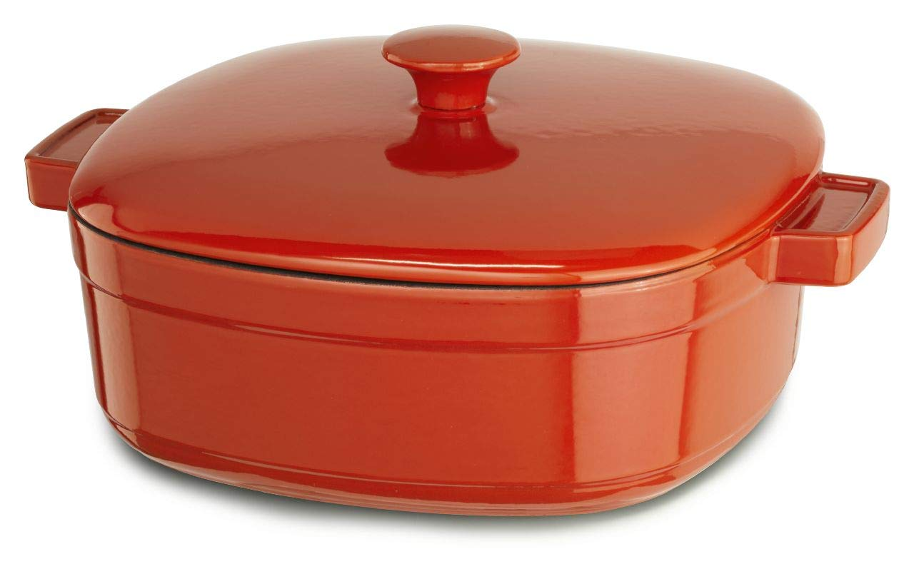 KitchenAid KCLI60CRAU Streamline Cast Iron 6-Quart Casserole Cookware - Autumn Glimmer