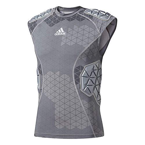 adidas Techfit Ironskin Mens 5 Pad Sleeveless Football Shirt Onix-Light Onix Medium