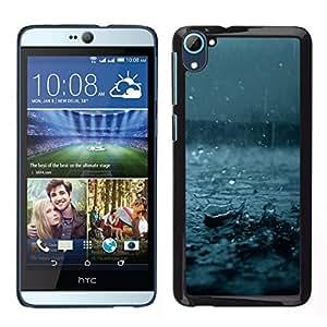 // PHONE CASE GIFT // Duro Estuche protector PC Cáscara Plástico Carcasa Funda Hard Protective Case for HTC Desire D826 / Fall Blue Storm Summer Nature /