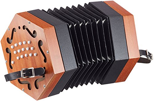 Cherrystone wooden diatonic concertina accordion (30 keys) -