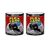 S-power Pack of 2 ! Flex Tape Black Strong Rubberized Waterproof Sealant Tape As See On TV