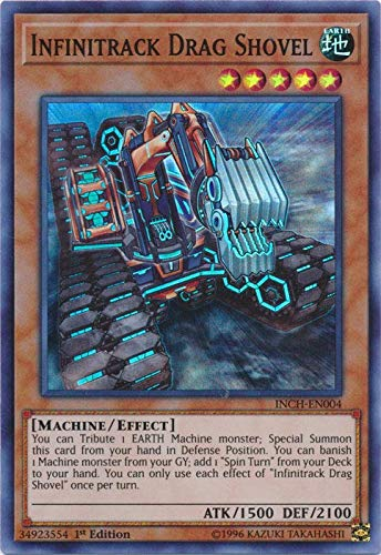 Yu-Gi-Oh! - Infinitrack Drag Shovel - INCH-EN004 - Super Rare - 1st Edition - Infinity Chasers by Yu-Gi-Oh! (Image #1)