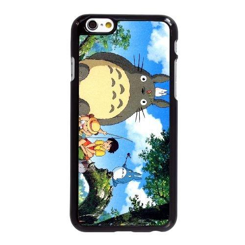 P6C75 Ghibli mon voisin D9H7JE coque iPhone 6 4.7 pouces cas de couverture de téléphone portable coque noire DH7SAI4TP