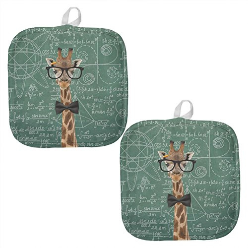 Giraffe Math Geek Formulas All Over Pot Holder (Set of 2) Multi Standard One Size by Animal World