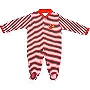 Creative Knitwear Clemson University Tigers Striped Newborn Footed Baby Romper