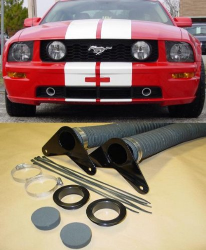 JLT Performance JLTBCK-FM05-B 2005 2009 Mustang GT JLT Brake Cooling Kit Black Bezels by JLT Performance