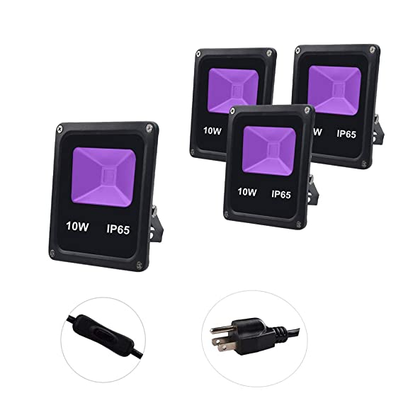 Amazon.com: UV LED Black Light,GLW 10W Ultraviolet ...