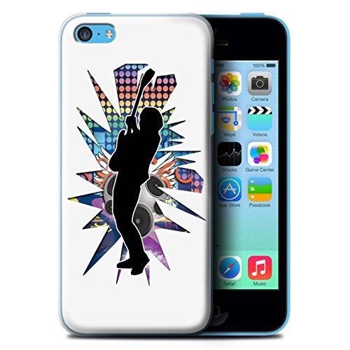 Coque de Stuff4 / Coque pour Apple iPhone 5C / Hendrix Blanc Design / Rock Star Pose Collection