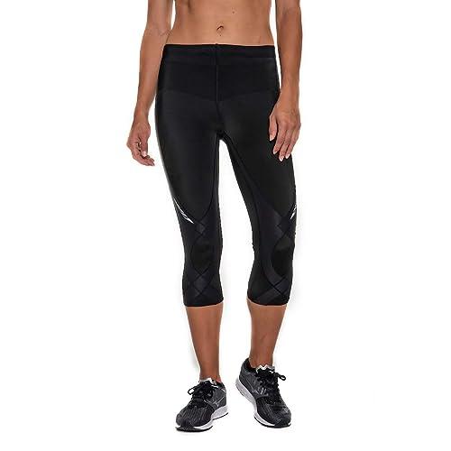 CW-X Women's Mid Rise 3/4 Capri Stabilyx Compression Legging Tights