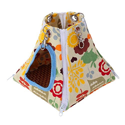 Balacoo Small Pet Hammock Tent-stype Summer Cool Nest Pet Hanging Bed House for Ferret Rabbit Rat Hamster Squirrel Parrot Toys
