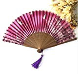 Pink Bamboo Butterflies Sakura Folding Hand Fan Wedding Bridal Decoration Event & Party Supplies Home Decor Dance Fans